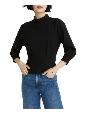 Madewell mock neck structured top