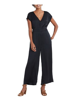Madewell open back satin jumpsuit