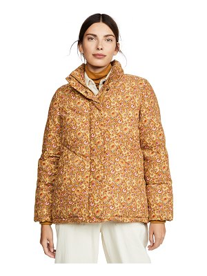 Madewell packable printed baby cord puffer