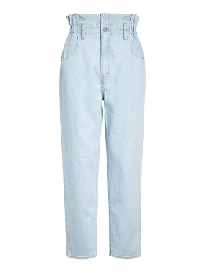 Madewell paperbag high waist classic straight jeans