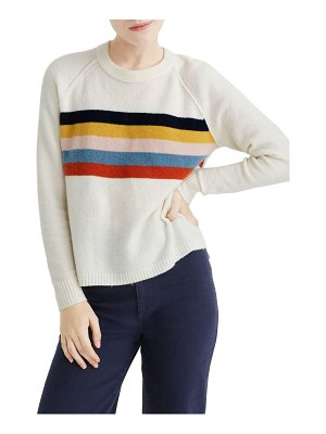 Madewell placed stripe allister pullover sweater