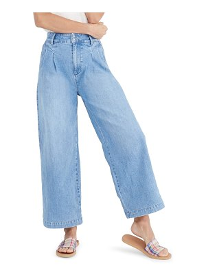 Madewell pleated wide leg trouser jeans