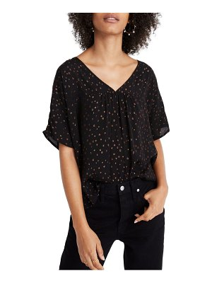 Madewell rhyme metallic dot top