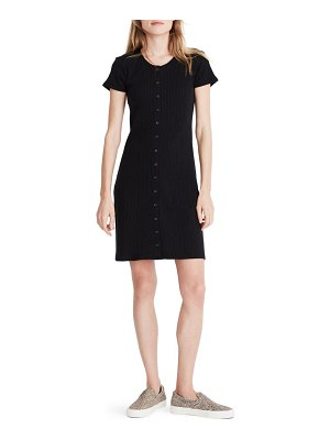Madewell ribbed button front minidress