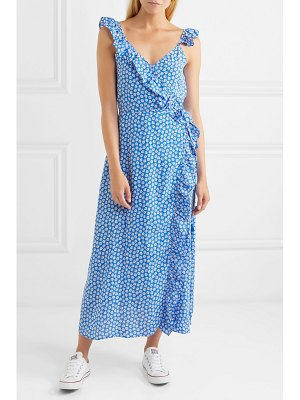 Madewell ruffled floral-print crepe de chine dress
