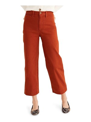 Madewell slim emmett wide leg crop pants