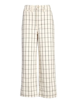 Madewell slim emmett windowpane crop pants