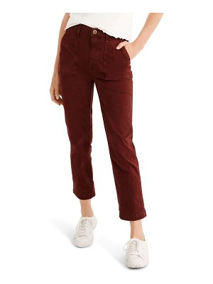 Madewell stovepipe fatigue pants