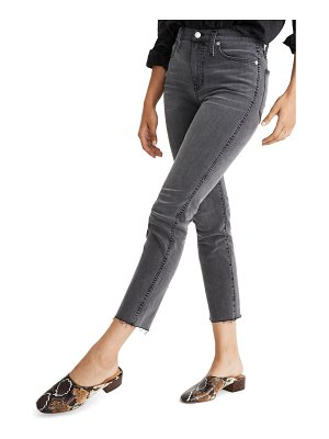 Madewell stovepipe raw hem jeans