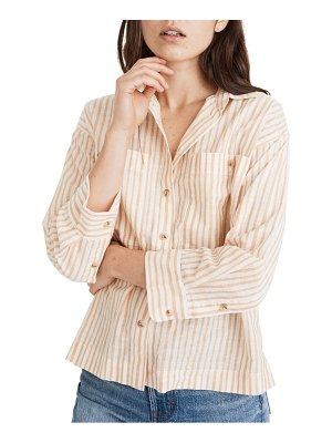 Madewell stripe boxy workwear shirt
