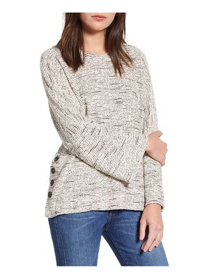 Madewell texture & thread side button top