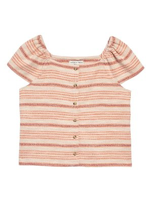 Madewell texture & thread stripe button front top
