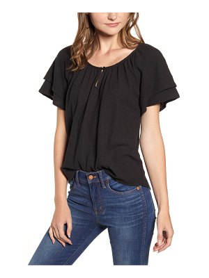 Madewell texture & thread tiered sleeve top