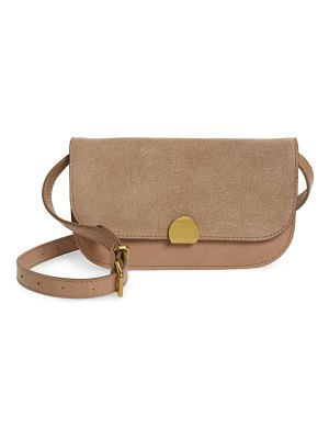 Madewell the abroad suede convertible crossbody bag