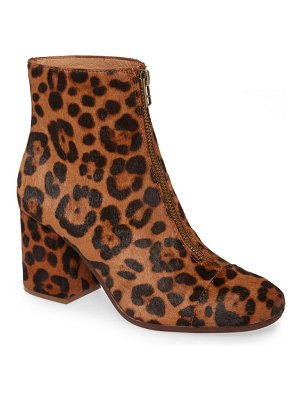 Madewell the amalia leopard genuine calf hair zip boot