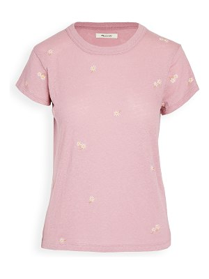 Madewell the daisy embroidered tee
