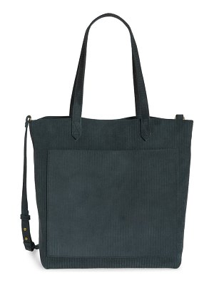 Madewell the medium transport tote: corduroy suede edition