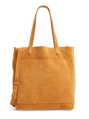 Madewell the medium transport tote corduroy suede edition