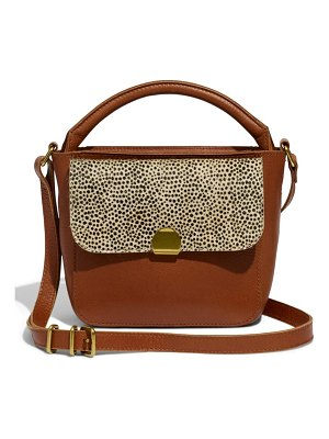 Madewell the mini abroad spotted calf hair crossbody bag