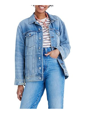 Madewell the oversize trucker jean jacket