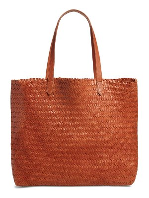 Madewell the transport leather tote: woven edition
