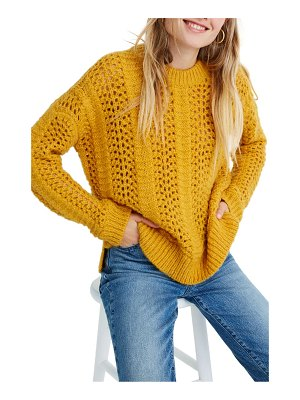 Madewell windemere pointelle pullover sweater