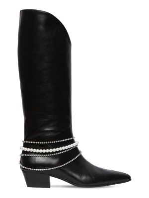Magda Butrym 30mm mexico embellished leather boots