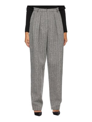 Magda Butrym black and white cashmere  tapered trousers