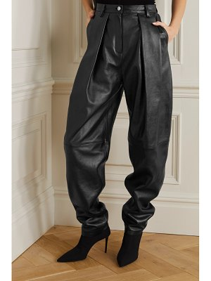 Magda Butrym pleated leather tapered pants