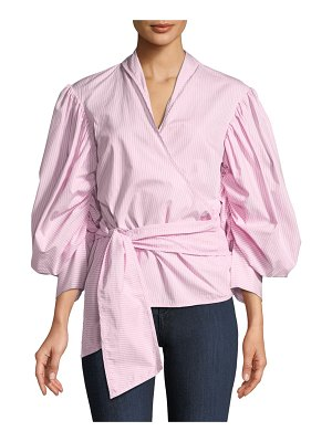 Maggie Marilyn A Breath Of Fresh Air Puff-Sleeve Wrap Top