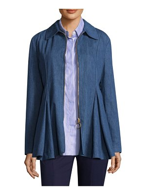 Maggie Marilyn George III Denim Ruffle Jacket