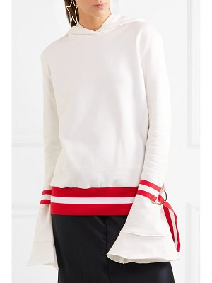 Maggie Marilyn light the way hooded cotton-jersey top