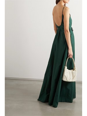 Maggie Marilyn lose your fear cotton and silk-blend maxi dress