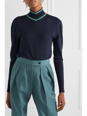 Maggie Marilyn make a difference striped merino wool turtleneck sweater