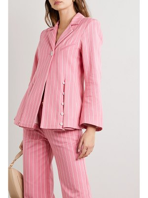 Maggie Marilyn net sustain follow your heart pinstriped organic-cotton twill blazer
