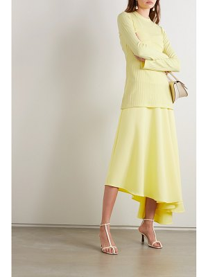 Maggie Marilyn net sustain i'm all in ribbed-knit and satin-crepe dress
