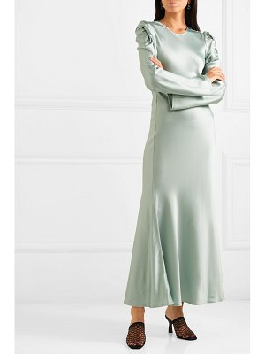 Maggie Marilyn net sustain love me knot satin-twill maxi dress