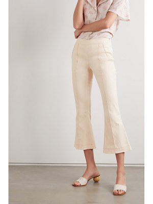 Maggie Marilyn net sustain meet me at seven cropped cotton-blend bootcut pants
