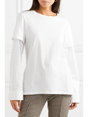 Maggie Marilyn nothing to prove layered organic cotton-jersey top