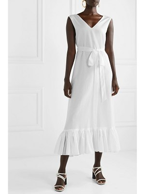 Maggie Marilyn net sustain the heavenly ruffled cotton and silk-blend voile maxi dress