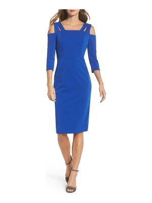Maggy London cold shoulder sheath dress