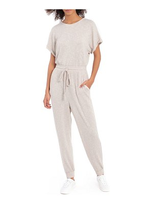 Maggy London spring ribbed short sleeve jumpsuit