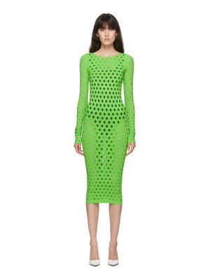 Maisie Wilen green perforated dress