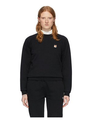 Maison Kitsune black fox head sweatshirt