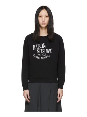 Maison Kitsune black palais royal sweatshirt