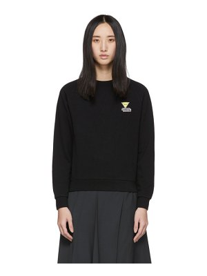 Maison Kitsune black smiley fox sweatshirt
