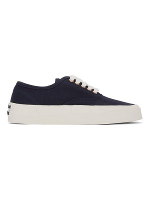 Maison Kitsune navy laced sneakers