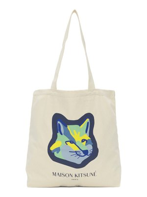 Maison Kitsune off-white fox head tote