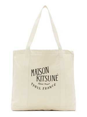 Maison Kitsune off-white palais royal shopping tote