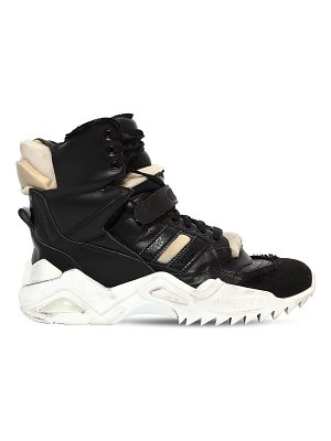 Maison Margiela 50mm destroyed leather high top sneakers